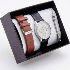 Zegarek z wymiennym paskiem - Czarny. Czarne zegarki męskie Reserved. Za 119,99 zł.