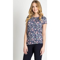 Bluzki damskie: Niebieska bluzka w kwiaty QUIOSQUE