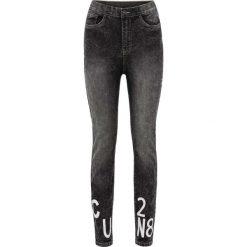 """Rurki damskie: Spodnie z wysoką talią Super Skinny bonprix czarny """"moonwashed"""""""