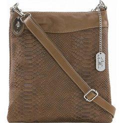 Torebki klasyczne damskie: Skórzana torebka w kolorze szarobrązowym - 26 x 28 x 3 cm