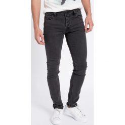 Only & Sons - Jeansy Loom Dark Grey Denim 4030. Szare jeansy męskie slim marki Only & Sons, z aplikacjami, z bawełny. W wyprzedaży za 129,90 zł.