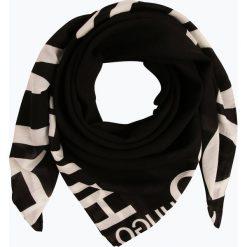 HUGO - Chusta damska, czarny. Czarne chusty damskie HUGO, z napisami. Za 469,95 zł.