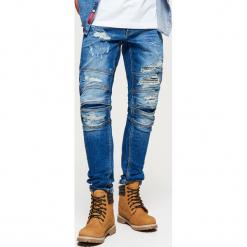 Jeansy SLIM - Granatowy. Niebieskie jeansy męskie regular Cropp. Za 139,99 zł.