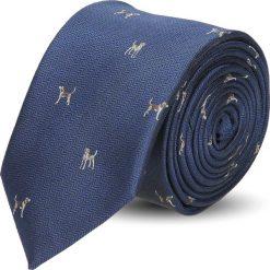Krawaty męskie: krawat platinum granatowy classic 246