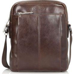 Brązowa torba męska. Brązowe torby na ramię męskie Kazar, ze skóry, przez ramię, małe. Za 549,00 zł.