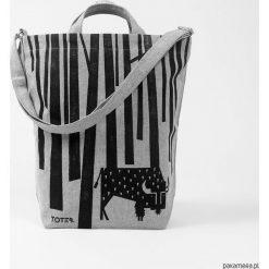 Shopper bag damskie: Ekologiczna torba z żubrem