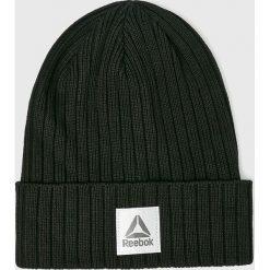 Reebok - Czapka. Czarne czapki zimowe męskie Reebok, z bawełny. W wyprzedaży za 49,90 zł.