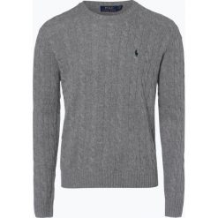 Polo Ralph Lauren - Męski sweter z wełny merino z dodatkiem kaszmiru, szary. Szare swetry klasyczne męskie marki Polo Ralph Lauren, l, z kaszmiru, polo. Za 839,95 zł.