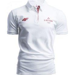 Koszulki polo: Koszulka polo męska Łotwa Pyeongchang 2018 TSM801 – biały – 4F