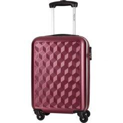 Walizka w kolorze bordowym - 32 l. Czerwone walizki marki Travel One, z materiału. W wyprzedaży za 159,95 zł.