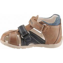 GEOX Kids Buty otwarte  niebieska noc / brązowy. Brązowe buciki niemowlęce marki geox kids, z gumy, z otwartym noskiem, na obcasie, na rzepy. Za 231,00 zł.