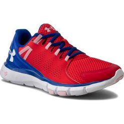 Buty UNDER ARMOUR - Ua W Micro G Limitless Tr 1258736-669 Rtr/Ubl/Wht. Czerwone buty do fitnessu damskie marki Under Armour, w paski, z gumy. W wyprzedaży za 219,00 zł.