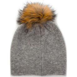Czapka GRANADILLA - Soft Wool Swaroski JG5301 Pearl Grey 004. Szare czapki zimowe damskie Granadilla, z elastanu. Za 439,00 zł.