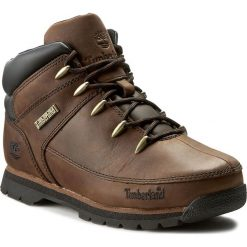 Trapery TIMBERLAND - Euro Sprint A1316 Dark Brown. Brązowe buty zimowe chłopięce marki Timberland, z gumy. W wyprzedaży za 299,00 zł.