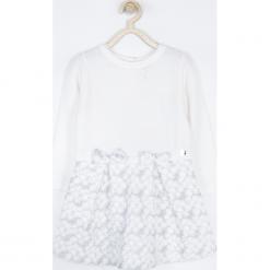 Sukienka. Białe sukienki dziewczęce dzianinowe ELEGANT BABY GIRL, eleganckie. Za 109,90 zł.
