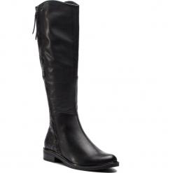 Oficerki CAPRICE - 9-25516-21 Black Barocco 032. Czarne buty zimowe damskie Caprice, z materiału, przed kolano, na wysokim obcasie, na obcasie. W wyprzedaży za 379,00 zł.