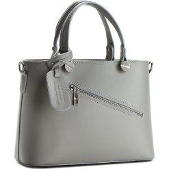 Torebka CREOLE - K10222  Szary. Szare torebki klasyczne damskie Creole, ze skóry, duże. W wyprzedaży za 179,00 zł.
