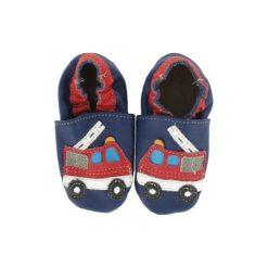 BaBice Buciki do raczkowania Straż Pożarna kolor niebieski. Niebieskie buciki niemowlęce marki BABICE, ze skóry. Za 69,00 zł.