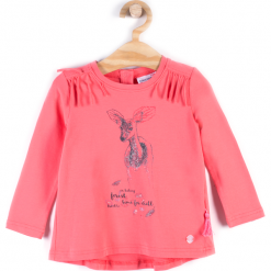Koszulka. Brązowe bluzki dziewczęce bawełniane marki bonprix, m, z nadrukiem. Za 39,90 zł.