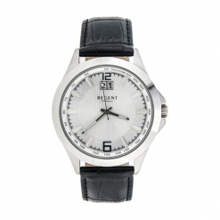 """Zegarek """"11110534"""" w kolorze srebrno-czarnym. Czarne, analogowe zegarki męskie marki Dugena & Nautec No Limit, ze stali. W wyprzedaży za 179,95 zł."""