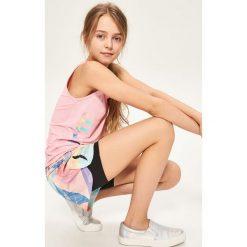 Spodenki dziewczęce: Szorty sportowe be active – Czarny