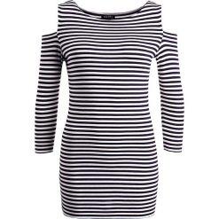 Bluzki asymetryczne: Baukjen FRANKLIN CUT OUT  Bluzka z długim rękawem navy/off white