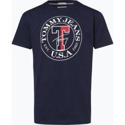 Tommy Jeans - T-shirt męski, czarny. Czarne t-shirty męskie marki Tommy Jeans, m, z nadrukiem, z bawełny. Za 149,95 zł.