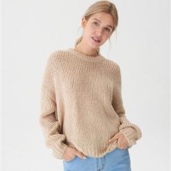 Sweter oversize - Beżowy. Brązowe swetry oversize damskie House, l. Za 99,99 zł.