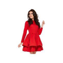 Sukienka OOH LA LA Red. Czarne sukienki koktajlowe Ooh la la, m, z długim rękawem, rozkloszowane. Za 269,00 zł.