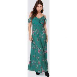Rut&Circle Długa sukienka Mika - Green. Fioletowe długie sukienki marki Reserved, z falbankami. Za 283,95 zł.
