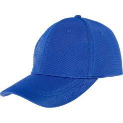 Czapka męska CAM200 - niebieski. Niebieskie czapki z daszkiem męskie 4f, z nadrukiem, z materiału. Za 39,99 zł.