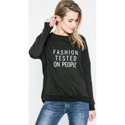 Answear - Bluza. Czarne bluzy z nadrukiem damskie marki ANSWEAR, m, z bawełny, bez kaptura. W wyprzedaży za 39,90 zł.