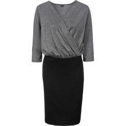Sukienki balowe: Sukienka brokatowa bonprix czarno-srebrny