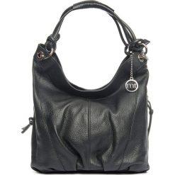 Torebki klasyczne damskie: Skórzana torebka w kolorze czarnym – 30 x 31 x 13 cm