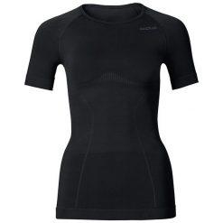 Odlo Koszulka shirt s/s crew neck EVOLUTION LIGHT - 181011 - 181011L. Czarne topy sportowe damskie Odlo, l. Za 159,95 zł.
