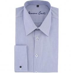 Koszula MARCO 15-08-16-K. Niebieskie koszule męskie na spinki marki bonprix, m, z nadrukiem, z klasycznym kołnierzykiem, z długim rękawem. Za 199,00 zł.