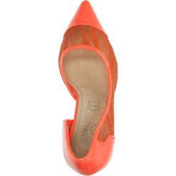 CZÓŁENKA CASU AH86089. Pomarańczowe buty ślubne damskie Casu, na koturnie. Za 54,99 zł.
