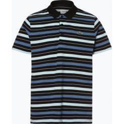 Lacoste - Męska koszulka polo, czarny. Szare koszulki polo marki Lacoste, z bawełny. Za 349,95 zł.