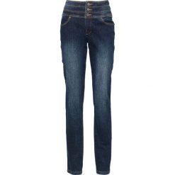 Dżinsy SHAPE bonprix ciemnoniebieski. Niebieskie jeansy damskie bonprix, z podwyższonym stanem. Za 89,99 zł.