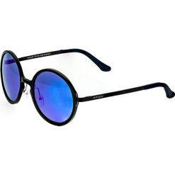 """Okulary przeciwsłoneczne męskie: Okulary męskie """"Corvus"""" w kolorze czarno-niebieskim"""