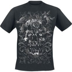 T-shirty męskie z nadrukiem: Swallow Skull T-Shirt czarny