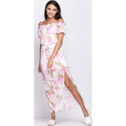 Sukienki: Biało-Różowa Sukienka Holidays