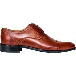 Półbuty BUKN000096. Brązowe buty wizytowe męskie Giacomo Conti, ze skóry. Za 399,00 zł.