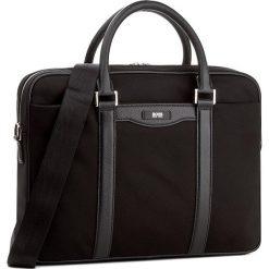 Torba na laptopa BOSS - Signature L S 50311763  Black 001. Czarne plecaki męskie Boss. W wyprzedaży za 979,00 zł.
