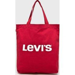 Levi's - Torebka. Brązowe torebki klasyczne damskie Levi's®, z bawełny, duże. Za 79,90 zł.