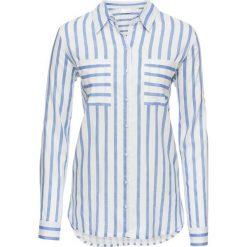 Bluzki damskie: Bluzka bonprix biało-niebieski w paski