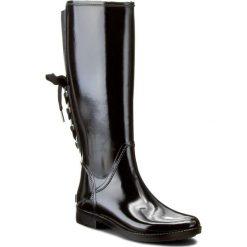 Kalosze MICHAEL KORS - Larson Rainboot 40F6LSFB5Q  Black. Czarne buty zimowe damskie Michael Kors, z materiału. W wyprzedaży za 499,00 zł.