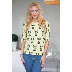 Bluzka żółta. Żółte bluzki damskie Fasardi. Za 19,00 zł.