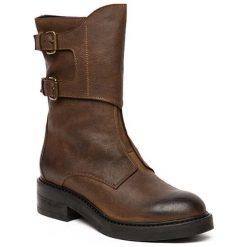 Skórzane botki w kolorze brązowym. Szare botki damskie saszki marki Marco Tozzi. W wyprzedaży za 379,95 zł.