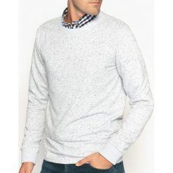 Bluza z okrągłym dekoltem z materiału w cętki. Szare bluzy męskie rozpinane marki La Redoute Collections, m, z bawełny, z kapturem. Za 113,36 zł.